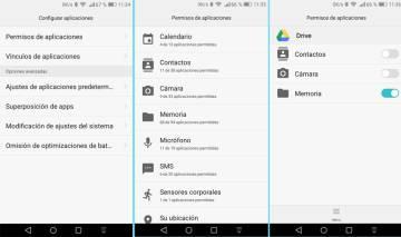 Imagen del panel de control de las apps en Android.