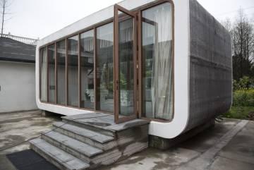 Prototipo de las oficinas portátiles que Winsun ha vendido al Gobierno de Dubái.