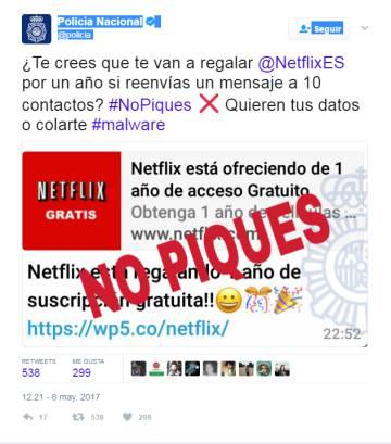 Netflix gratis durante un año