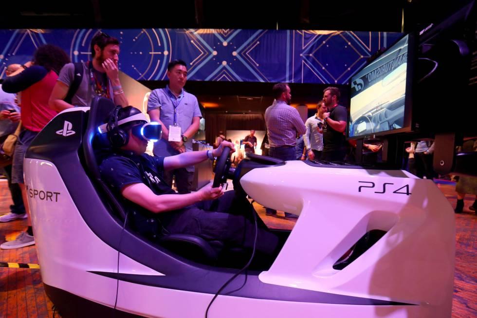 Pruebas de realidad virtual de Sony.