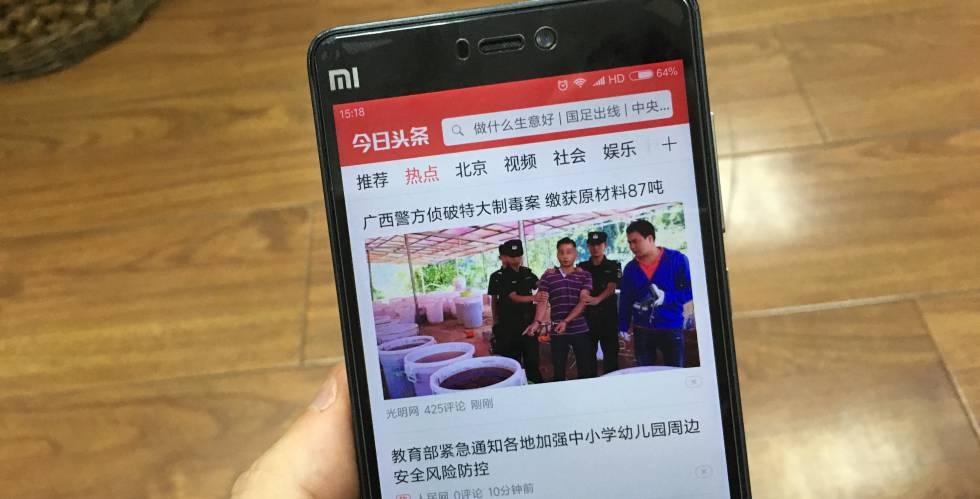 El agregador de noticias chino Toutiao.