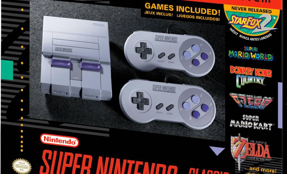 La nueva Super Nintendo sale a la venta el 29 de septiembre por 79,99 dólares y dos mandos.