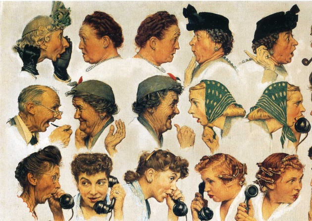The Gossips, de Norman Rockwell (fragmento)