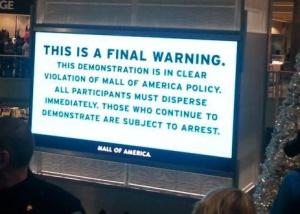 La foto del centro comercial que parece sacada de un libro de Orwell