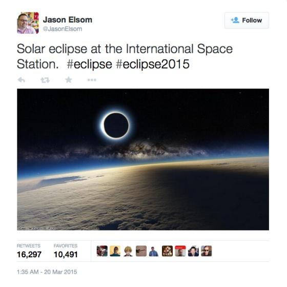 Todas las razones por las que esta foto del eclipse es falsa