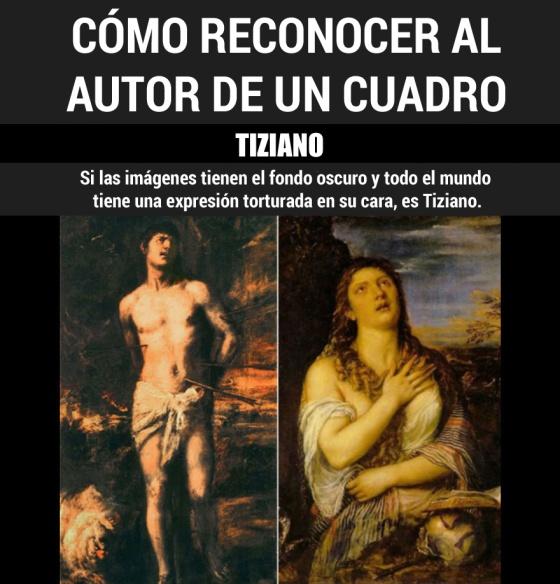 Cómo reconocer a los pintores clásicos por sus cuadros (según internet)