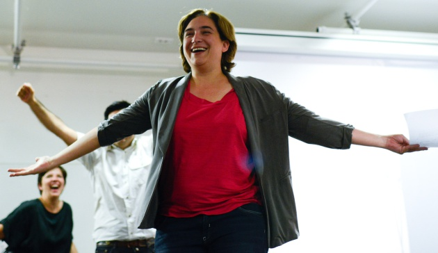 Ada Colau, poco después de ganar las elecciones municipales de Barcelona