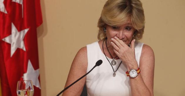 Esperanza Aguirre anunció su dimisión. Pero en 2012