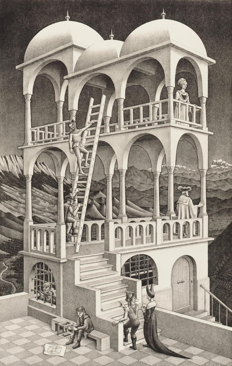 14 obras de escher que nunca nos cansamos de ver verne for Escaleras infinitas