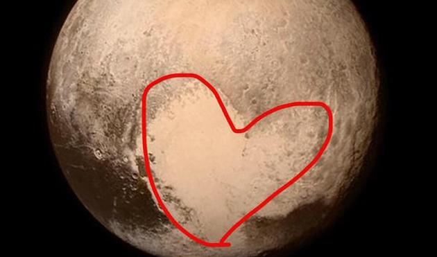 Plutón, el planeta enano, tenía corazón
