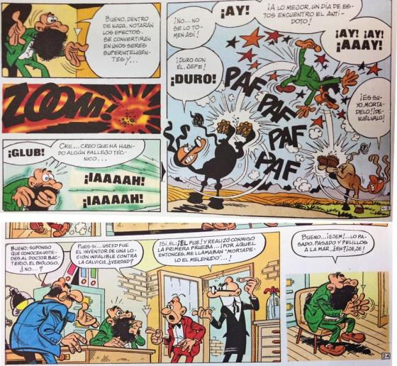 Escenas que pasan en todas las historietas de mortadelo y filem 243 n