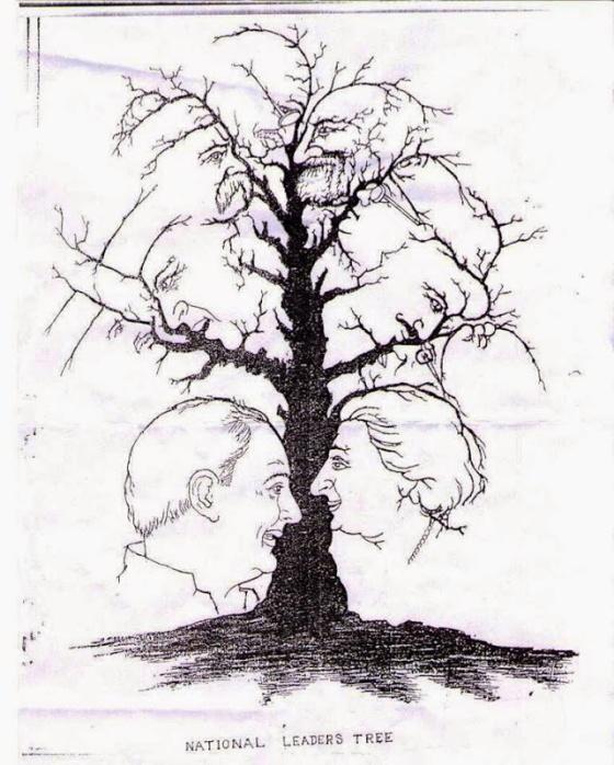 ¿Cuántas caras eres capaz de ver en este árbol?
