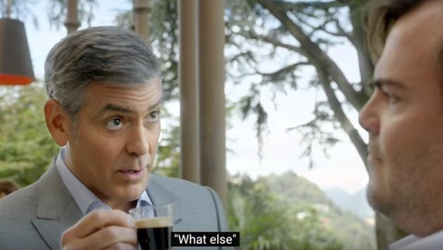 George Clooney enseñando lecciones de estilo en inlgés a Jack Black