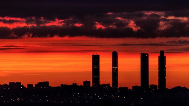 El 'skyline' madrileño, en una imagen del vídeo de José Ángel Izquierdo
