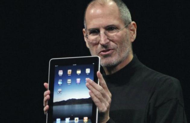 El fundador de Apple, Steve Jobs, durante el acto de presentación del iPad en 2010