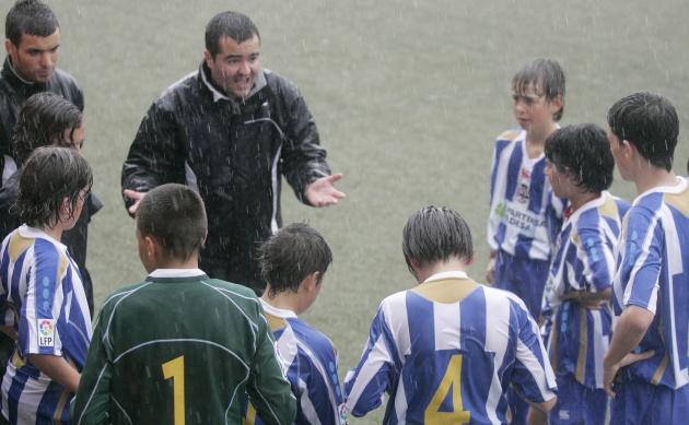 Equipo de categoría alevín compitiendo en el torneo de Fútbol7 de Brunete