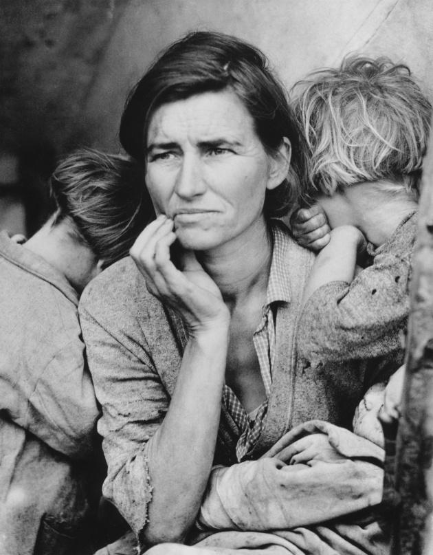 """Madre migrante"", de Dorothea Lange"