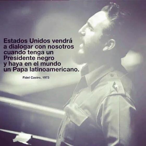 A frase premonitória que Fidel nunca disse sobre Obama, o Papa e Cuba