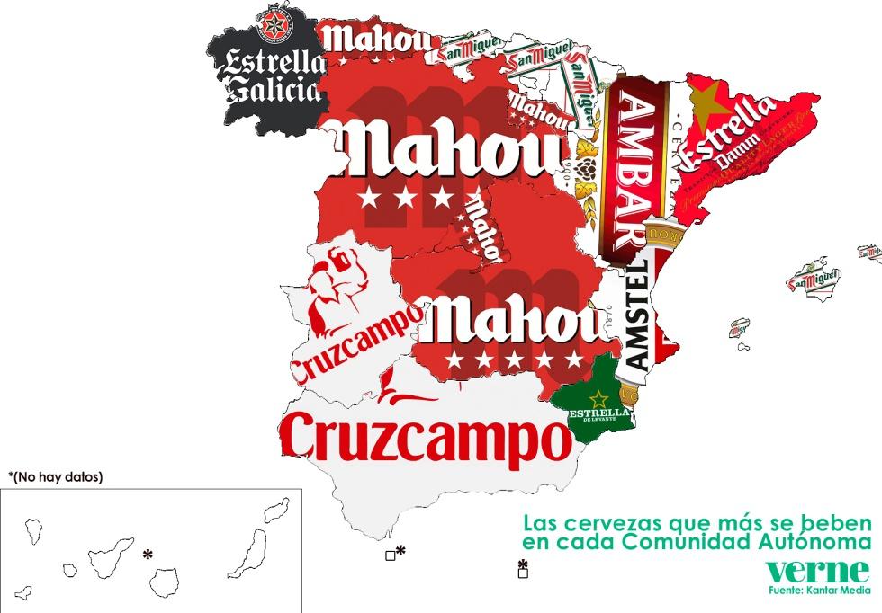 El mapa de espa a de la cerveza for Donde esta la comunidad de madrid