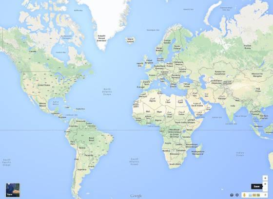 La proyección de Mercator en Google Maps