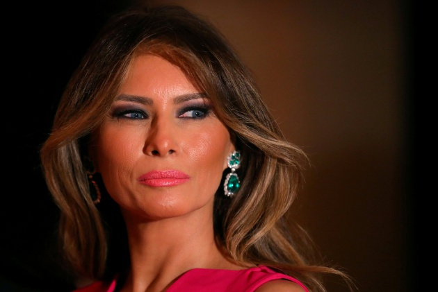 FILE PHOTO --  First Lady Melania Trump and U.S. President Donald Trump (not pictured) attend the 60th Annual Red Cross Gala at Mar-a-Lago club in Palm Beach, Florida, U.S.