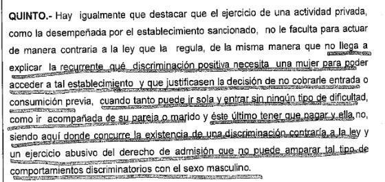 Un Juzgado de Albacete condena a un bar por cobrar entrada a hombres y no mujeres.
