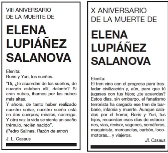"""Un viudo escribe cartas anuales a su """"Elenita"""" a través de esquelas"""