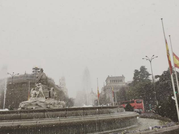 Nieve en Madrid