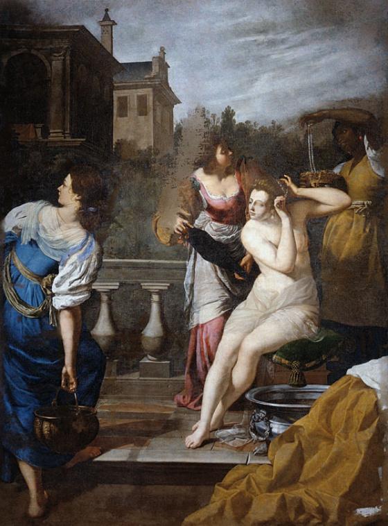 'O Banho de Betsabé', de Artemisia Gentilleschi.