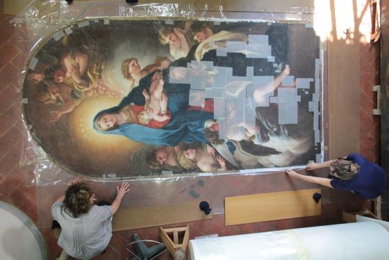 Uma das obras da artista Violante Beatrice Siries recuperadas pela fundação.