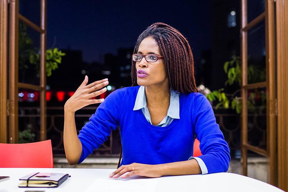 Djalmila Ribeiro, em entrevista ao EL PAÍS, em São Paulo.