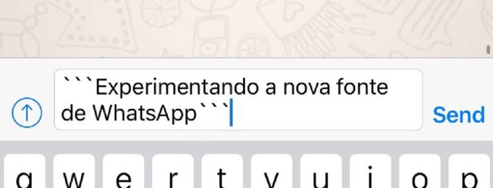 6c9226f68 WhatsApp tem nova família de letras que o usuário pode mudar ...