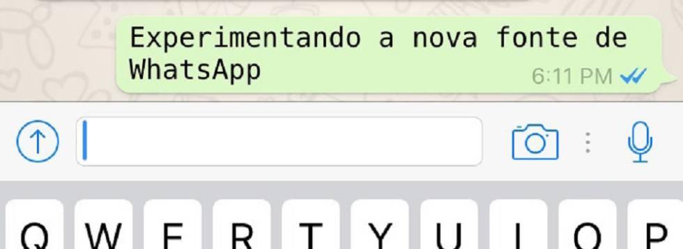 WhatsApp tem nova família de letras que o usuário pode mudar