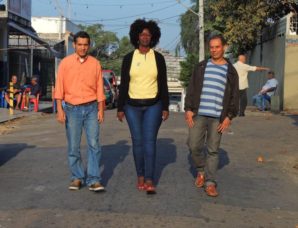 Da esquerda à direita: Edson, Rose e José Claudio, pré-candidatos a vereador e prefeito em Caxias.