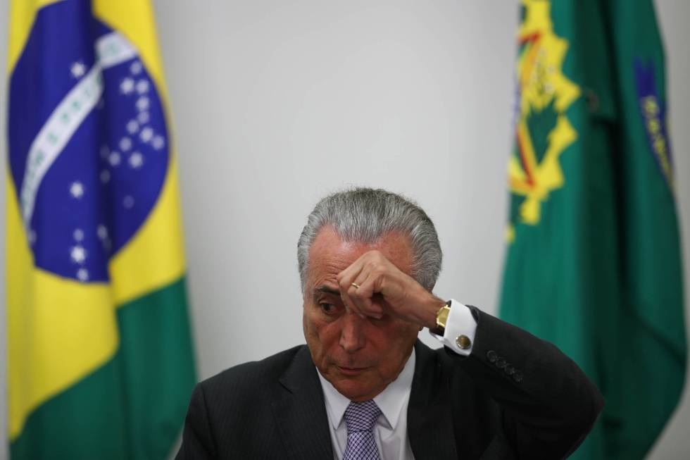O presidente interino Michel Temer, no Palácio do Planalto.