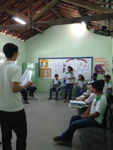 Sala de aula da Nobilino Alves de Araújo.