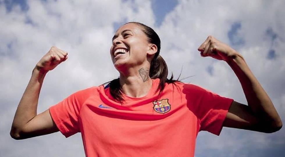 À vontade no Barça, Andressa pretende permanecer na Catalunha.