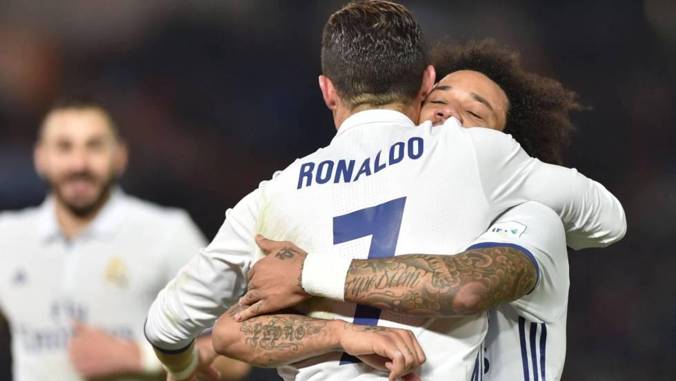 Resultado de imagem para Com recorde de CR7, Real Madrid vence de virada e pega o Grêmio na final do Mundial