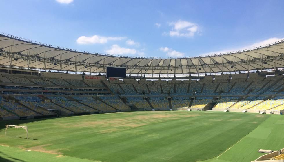 A grama do Maracanã começa a ficar amarela. b7665aa49dc8d