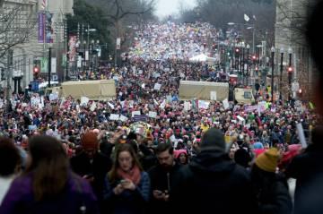 Cerca de 500.000 pessoas protestaram na marcha das mulheres em Washington no último 21 de janeiro.