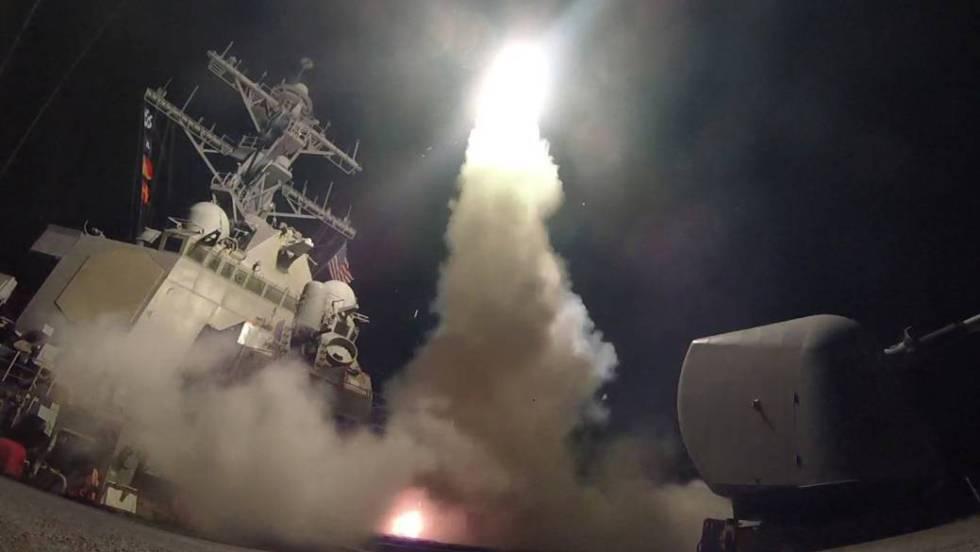 Trump lança mísseis contra o Exército sírio em resposta ao ataque químico
