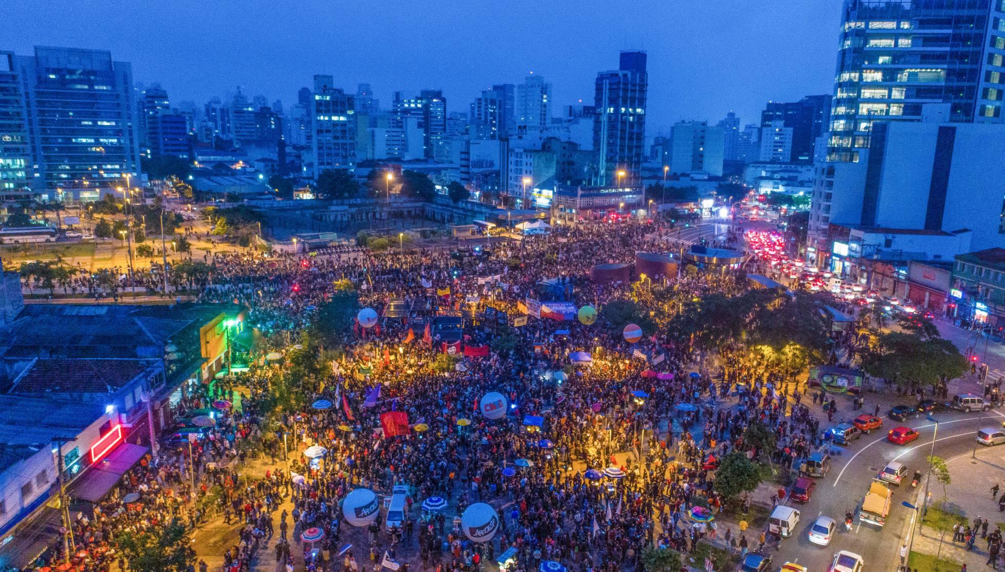 Greve Geral de 2017 no Largo da Batata em São Paulo mobilizou centenas de milhares pelo País - Créditos: Ricardo Stuckert