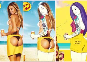 Marca de cerveja pede para mulheres pintarem sobre seus anúncios mais machistas
