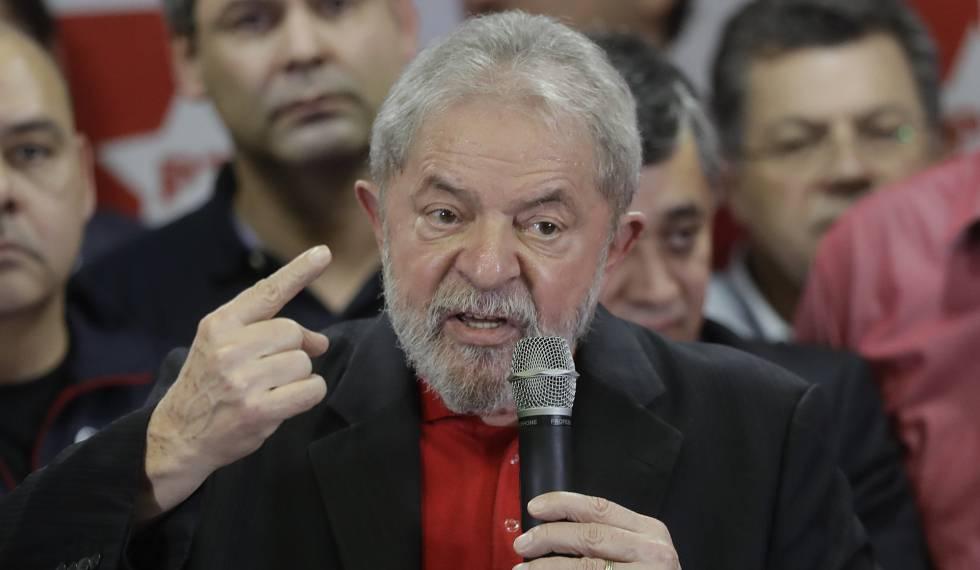 O presidente Lula no primeiro discurso após sentença do juiz Sérgio Moro