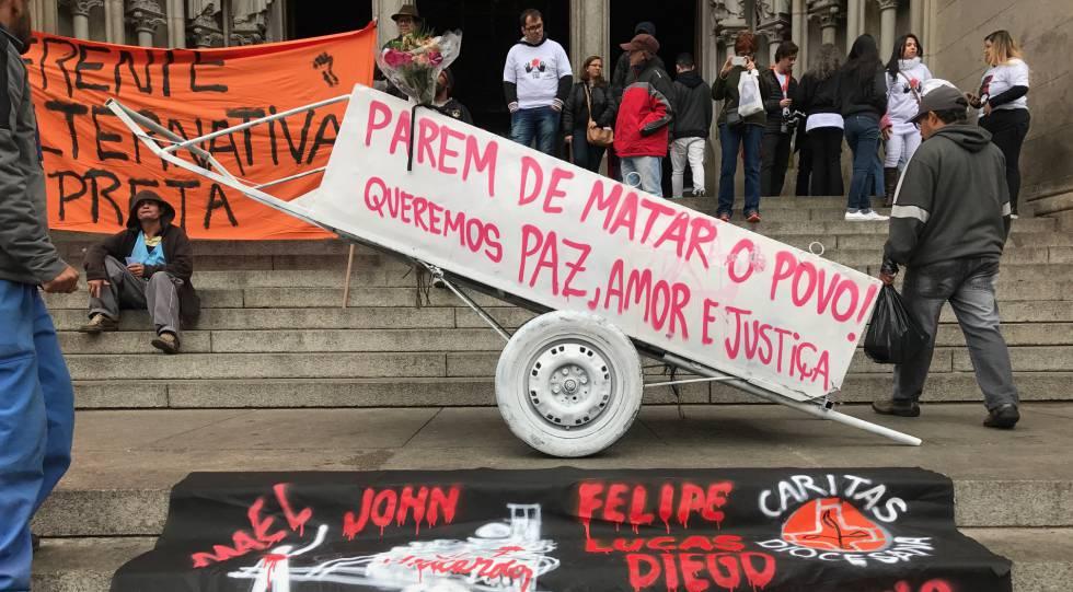 Carroceiro morto pela PM em São Paulo