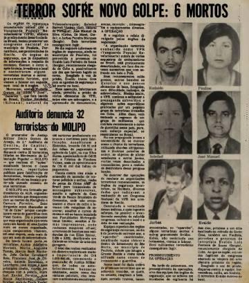 Reprodução de jornal pernambucano de 1973.