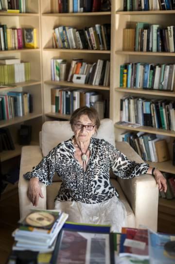 Agnes Heller em seu escritório