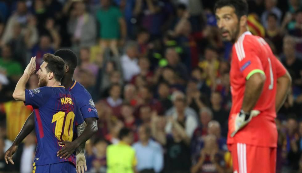 5a78edef77 Messi marca seu primeiro gol em Buffon e Barcelona bate a Juventus na  estreia da Champions