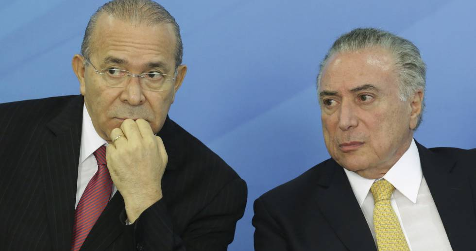 Eliseu Padilha e Michel Temer, nesta terça-feira.