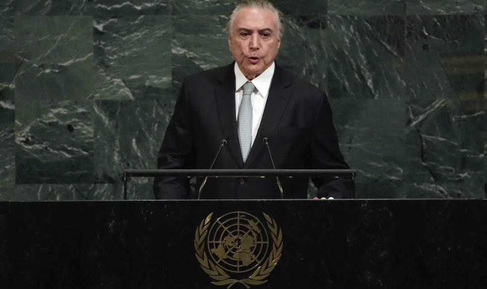 Michel Temer discursa na Assembleia Geral da ONU
